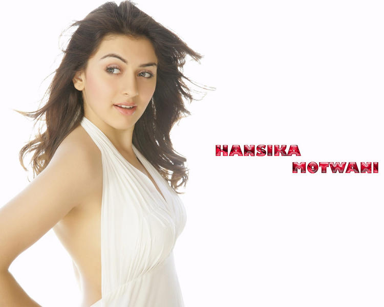Hansika Motwani White Shirt Wallpaper