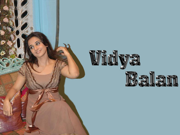 Charming Beauty Vidya Balan Wallpaper