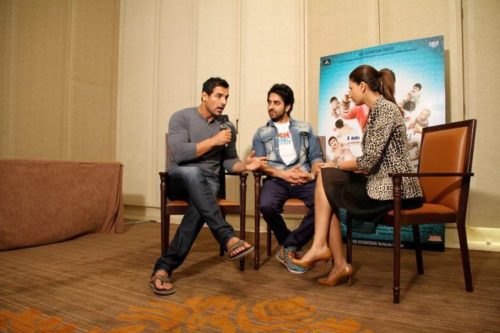 John Abraham and Ayushman on HLD to Promote Vicky Donor