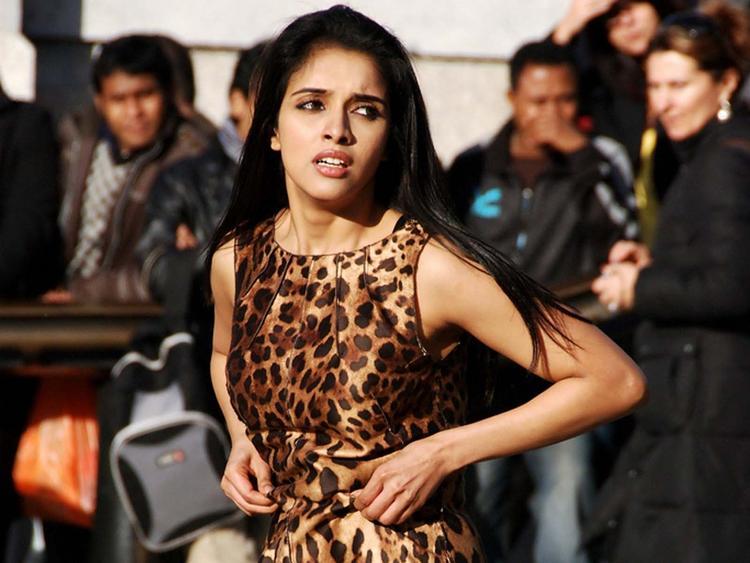 Asin Thottumkal Cheetah Print Dress