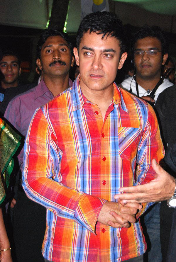 Aamir Khan Colorful Shirt Still