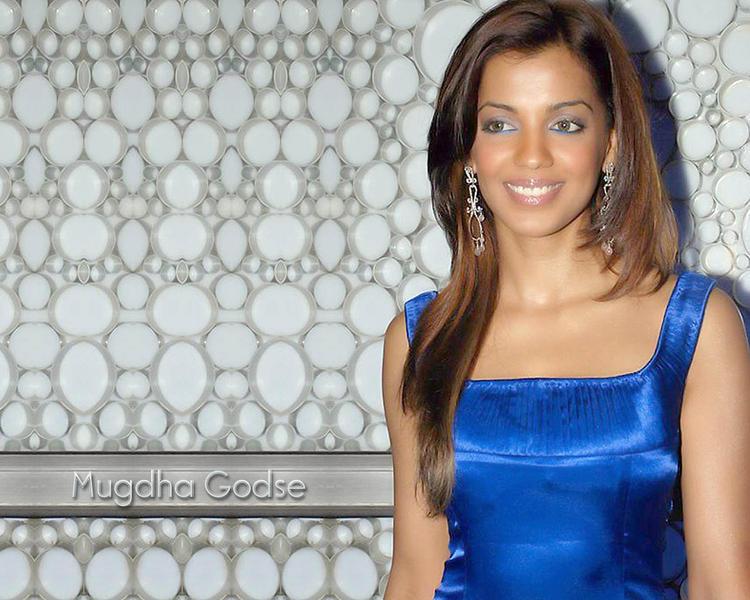 Mugdha Godse Blue Gorgeous Dress Still