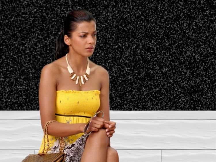Mugdha Godse Sleeveless Dress Glamour Still