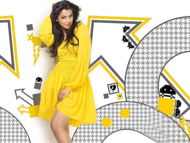 Mugdha Godse Yellow Dress Sexy Photo
