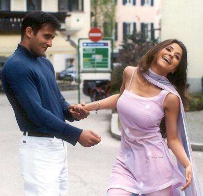 Akshay and Urmila Romance Still