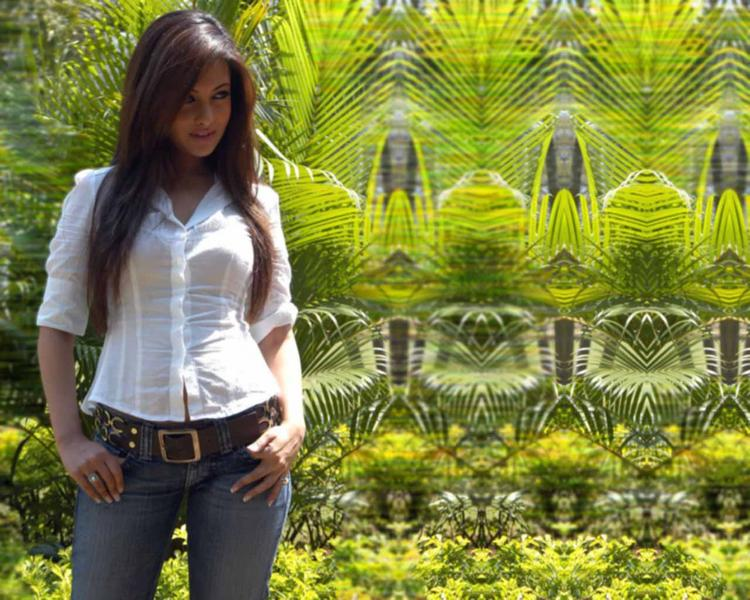 Riya Sen Look s Hot With White Shirt and Jeans