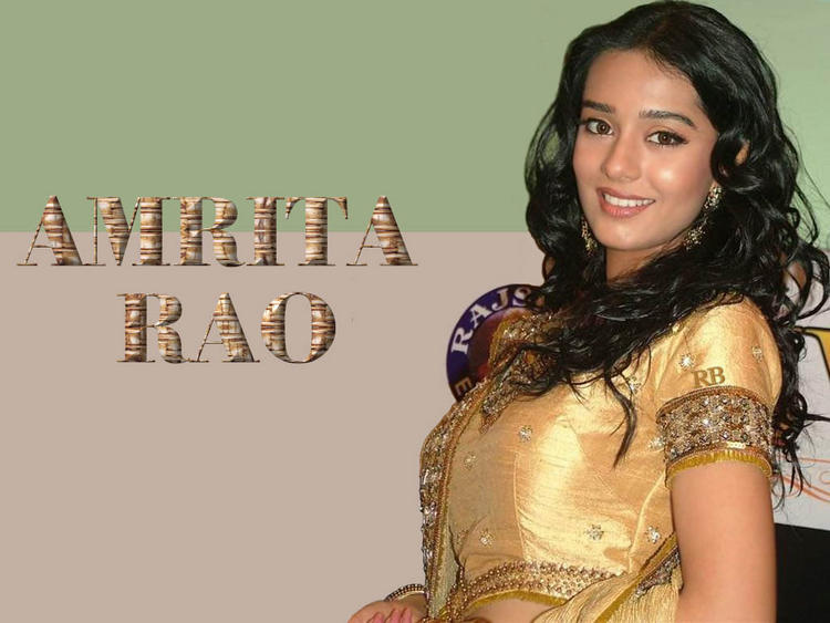 Amrita Rao Sweet Face Wallpaper