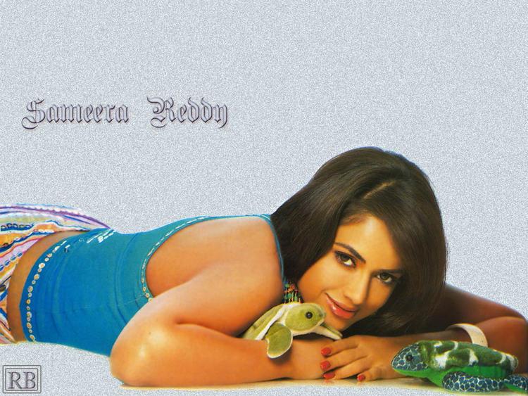 Cute Sameera Reddy Hot Wallpaper