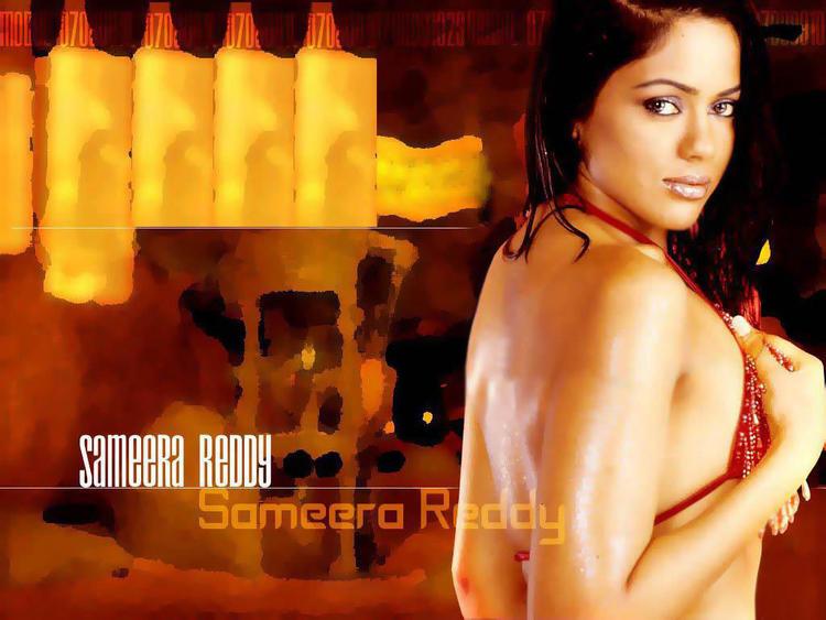 Sameera Reddy Bikini Hot Wallpaper