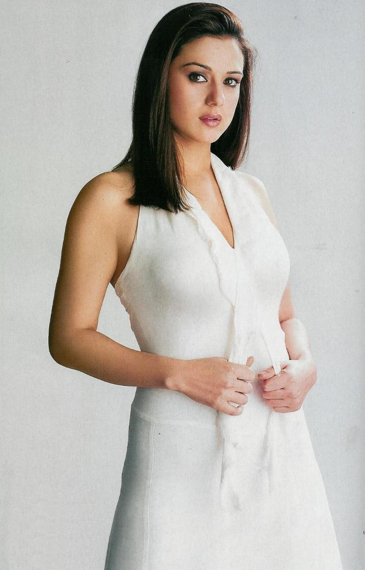 Preity Zinta Sizzling Photo Shoot With White Dress