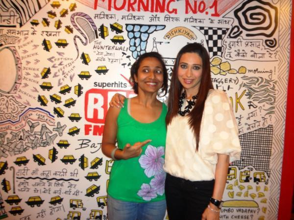 Karisma Kapoor Promoting Dangerous Ishhq at Red FM 93.5