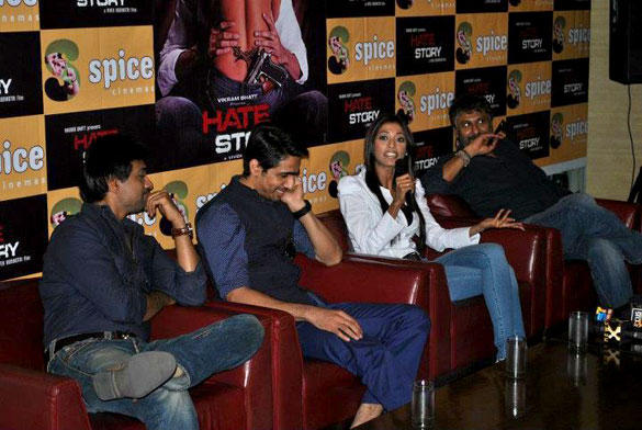 Casts of Bollywood Upcoming Cinema Hate Story Press Conference at Noida