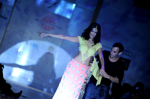 Sarah Jane Dias at the Adam Saaks show at ABIL Pune Fashion Week