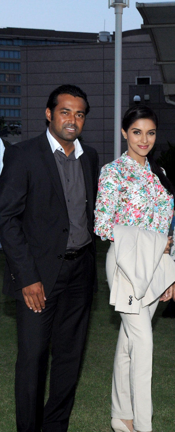 Leander Paes and Asin at United Nations Young Changemakers Conclave