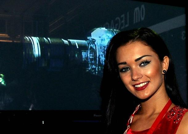 Amy Jackson Smiles During The Launch of Olympus OM-D Camera