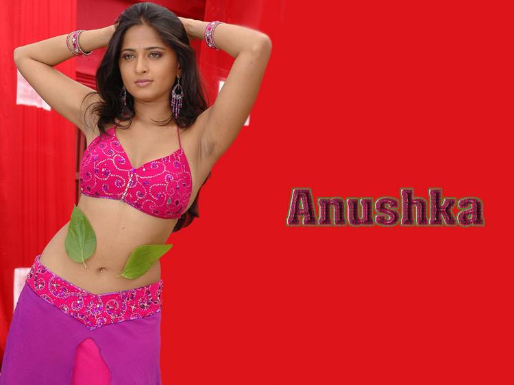 Anushka Shetty Sexy Navel Show Wallpaper