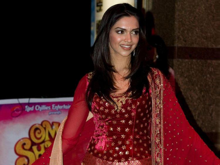 Deepika Padukone Red Dress Glamour Still
