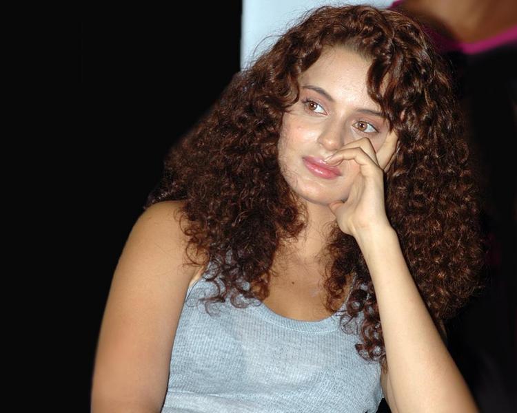 Curly Hair Beauty Kangana Ranaut Nice Look
