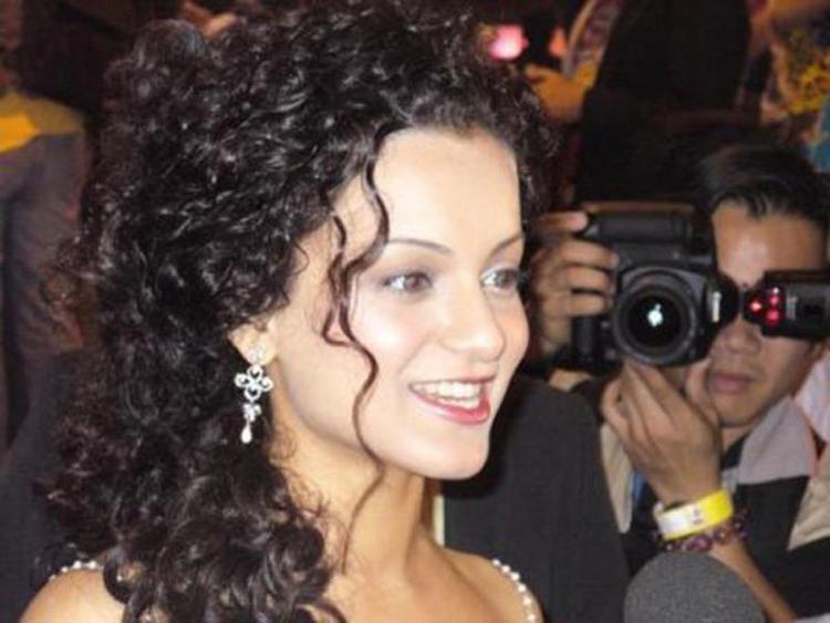Curly Hair Beauty Kangana Ranaut Public photo
