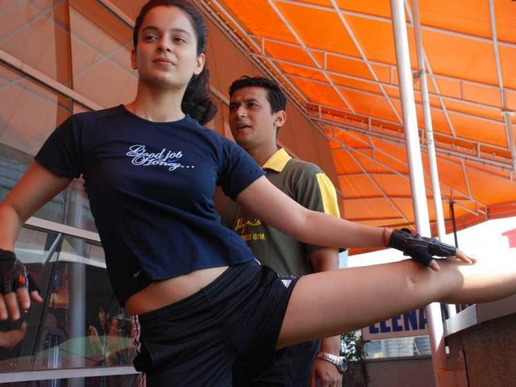Kangana Ranaut at Leena Mogre Gym