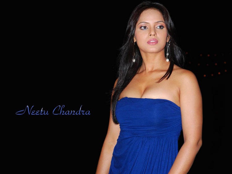 Neetu Chandra Open Boob Show Wallpaper