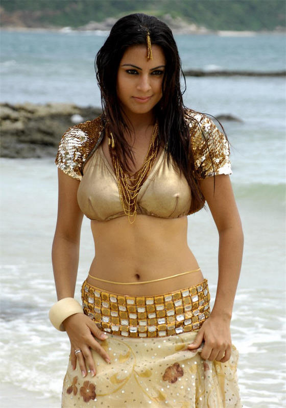 Shraddha Arya Sexy Navel Pic On The Beach