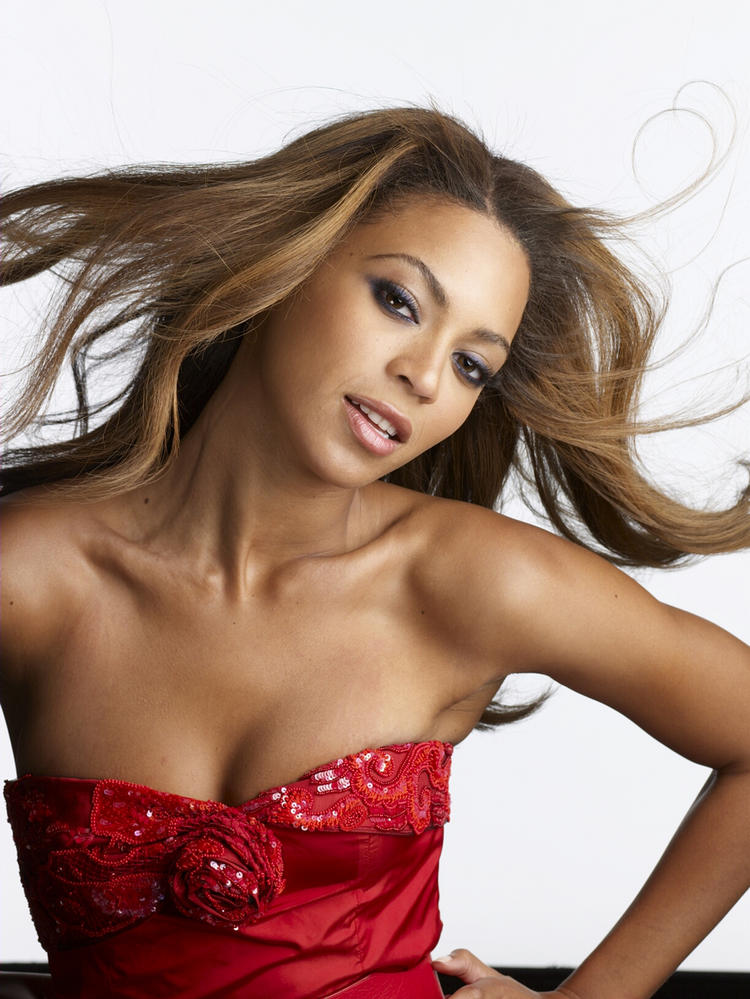 Beyonce Knowles Red Color Dress Still