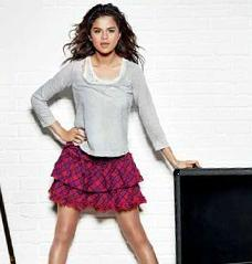 Selena Gomez In Mini Skirt Hot Photo
