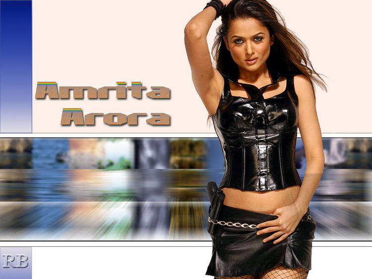 Amrita Arora Hot Look With Mini Skirt
