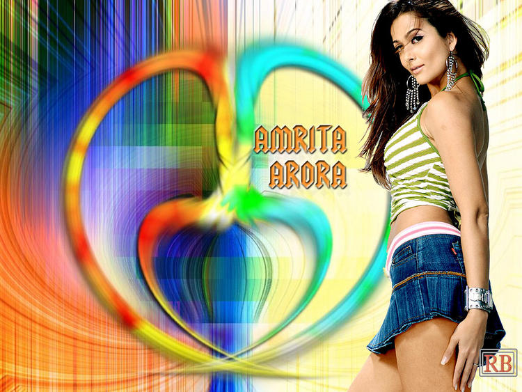 Amrita Arora Mini Skirt Sizzling Wallpaper