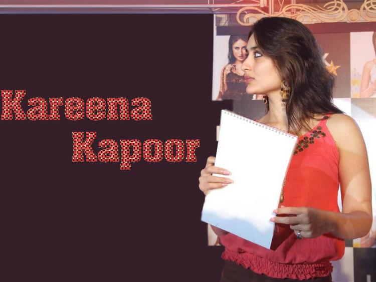 Kareena Kapoor Red Face Side Face Wallpaper