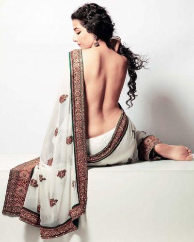 Vidya Balan Sexy Back Bare Still