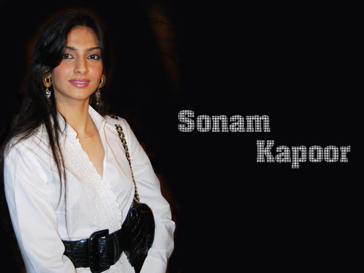 Sonam Kapoor White Shirt Sizzling Wallpaper