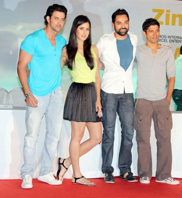 Hrithik,Katrina,Abhay and Farhan Road Trip for ZNMD