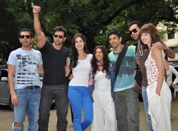 Hrithik,Katrina,Abhay and Farhan Still