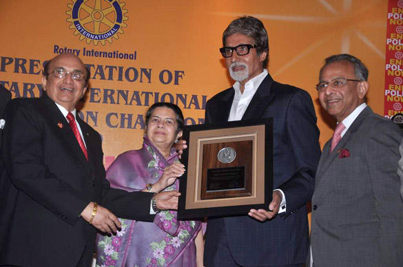 Rotary International Honors Big B with the Polio Eradication Champion Award