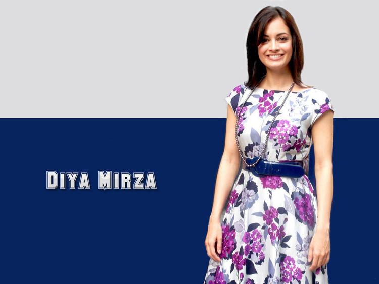 Diya Mirza Beauty Smile Face Wallpaper