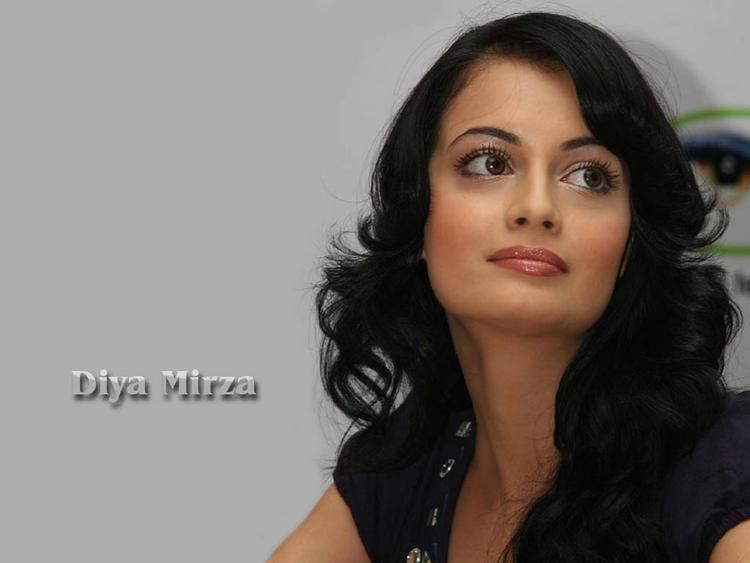 Diya Mirza Curly Hair Pic Wallpaper