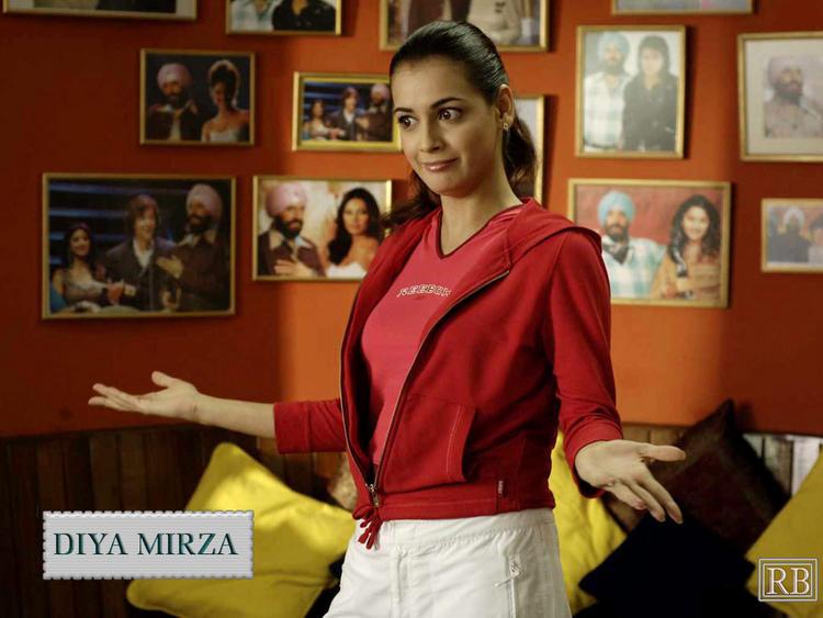 Diya Mirza Latest Cute Pose Wallpaper