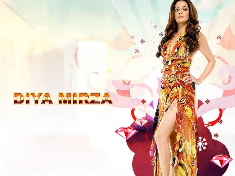Diya Mirza Sexy Dress Wallpaper