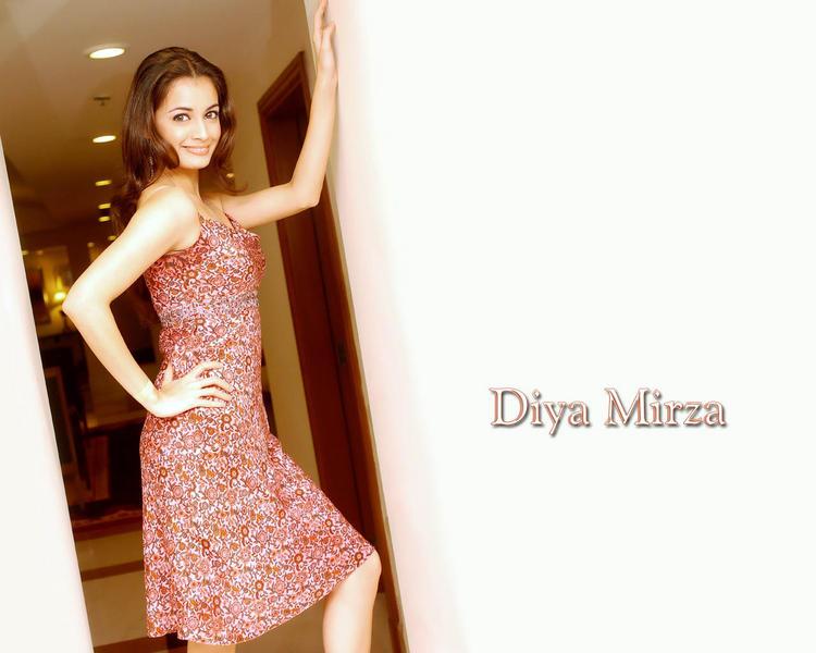 Diya Mirza Spicy Looking Wallpaper