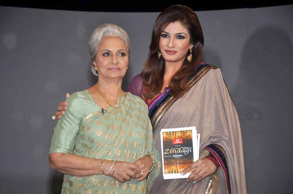 Waheeda Rehman and Raveena Tandon Poses To Photo Shoot