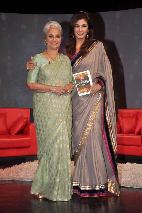 Waheeda Rehman,Raveena Tandon at NDTV Chat Show