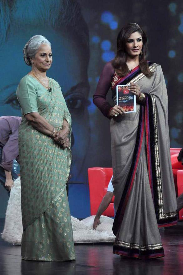 Waheeda Rehman,Raveena Tandon on Raveena's NDTV Chat Show