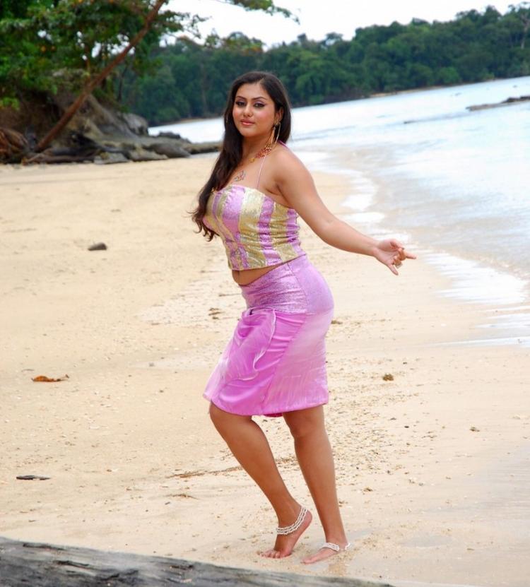 Namitha Sexy Still On The Beach