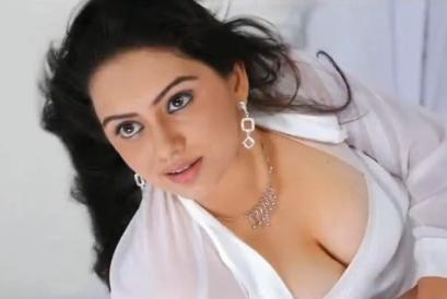 Tamil Actress Namitha Sexy Cleavages Still