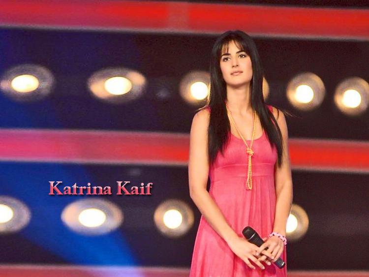Katrina Kaif Pink Dress Sizzling Wallpaper