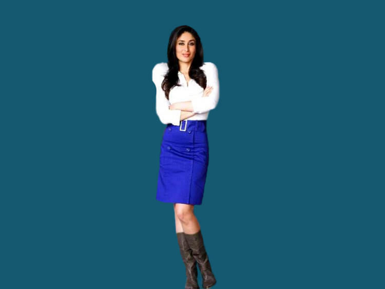 Kareena Kapoor Looks Hot With White Tops and Blue Skirt