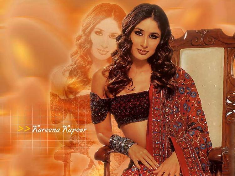 Kareena Kapoor Sexy Wallpaper With Curly Hair