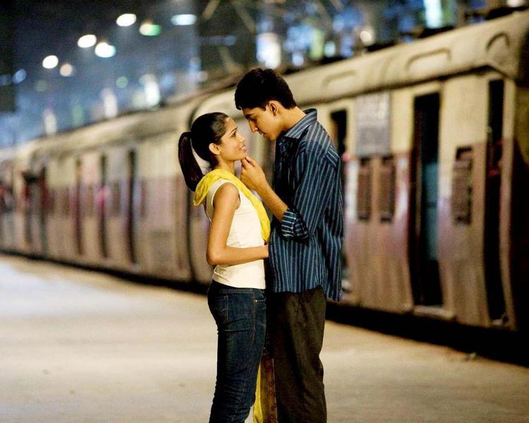Freida Pinto and Dev Patel Romance Still